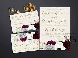 Succulent Wedding Invitations Printable Wedding Invitation Floral Wedding Invitation Anemone