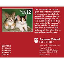 Small Desk Calendars Cats Mini 2018 Desk Calendar 9781449484866 Calendars