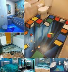 3d bathroom floor designs self leveling 3d flooring awesome 3d