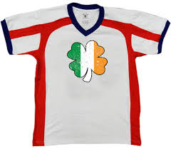 Green White Orange Flag Irish 4 Leaf Clover Green White Orange Country Pride Ireland Retro