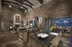 Open Kitchen Living Room Design Open Concept Kitchen And Family Room Beams Add Interest