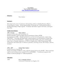 sample resume for data analyst data analyst resume examples