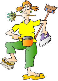cartoon pictures of cleaning house cleaning