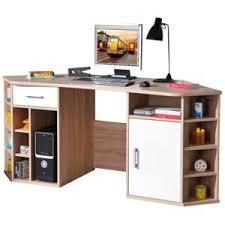 bureau avec rangement comforium bureau d angle avec rangement coloris sonoma chêne et