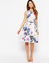 warehouse neon floral prom dress shopperboard