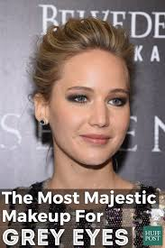 what enhances grey hair round the face the most majestic makeup for grey eyes huffpost