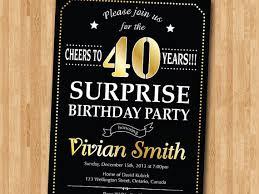 surprise 40th birthday invitations surprise 40th birthday