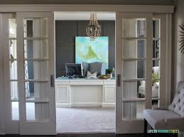 Home Office Pictures by Remodelaholic Home Office Makeover With Diy Wood Bead Chandelier