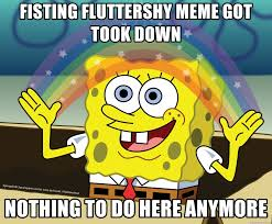 Nothing To Do Meme - fisting fluttershy meme got took down nothing to do here anymore