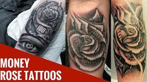 money rose tattoos los mejores tatuajes de rosas de dinero de
