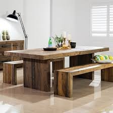 Chunky Rustic Dining Table Buy Rustic Chunky Plank Recycled Wood Dining Set Industrial Furniture
