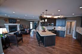 Kitchen And Living Room Open Floor Plans Open Floor Plan Ideas For Contemporary House