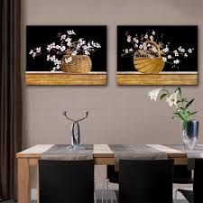 Home Decor Paintings by Online Get Cheap Oil Paintings Basket With Flowers Aliexpress Com