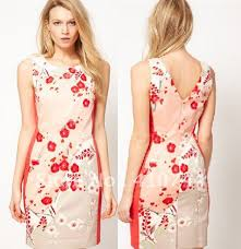 womens print dresses fashion sleeveless dress v neck dresses uk