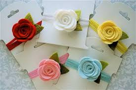 felt headbands pin by on baby girl felt flowers