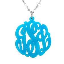 monogram necklace acrylic classic prep monograms acrylic script monogrammed necklace