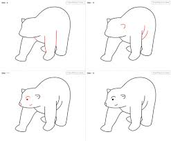 how to draw a black bear step by step pencil art drawing