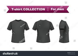 black tshirt template front side back stock vector 340581581