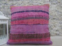 Ottoman Pillow Cushion by Floor Pillow Vintage Cotton Kilim Cushion Pillow 18 X 18 Kilim