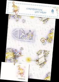 confirmation gift party goods confirmation gift wrap paper with gift card