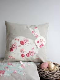 Bunny Rabbit Home Decor Bunny Rabbit Crochet Pillow Green Background Brown Rabbit Crochet
