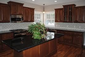 Backsplash For Granite by Fascinating Idea Of Black Pearl Granite Countertops And White