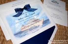 cruise wedding invitations ship wedding invitations kac40 info