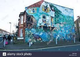 urban mural london stock photos urban mural london stock images big splash street mural in glenelg road by christine thomas in 1985 in brixton south london