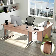 Computer Desk With Return 87 Tribesigns Largest Modern L Shaped Desk With