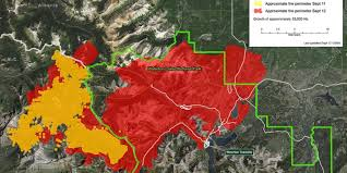 Wildfire Perimeter Map by Waterton Alberta Fire Tops 103 000 Acres