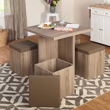dining table set for 4 kitchen nook storage ottoman cubes modern