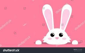 white easter rabbit easter bunny stock vector 618130286 shutterstock