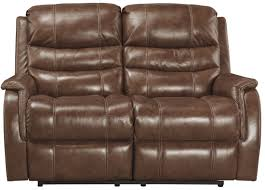 Loveseat With Recliner Metcalf Nutmeg Power Reclining Loveseat From Ashley Coleman