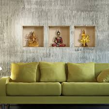 Buddha Home Decor Statues by Pag Creative Design Vinyl 3d Wallpaper Pvc Wall Sticker Buddha