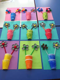 flower craft idea for crafts and worksheets for preschool
