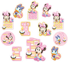 baby minnie mouse 1st birthday minnie mouse 1st birthday cutout decorations minnie mouse party