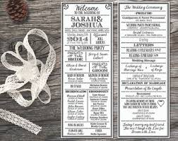 playbill wedding program invitations graphic design by ladybugpixels on etsy