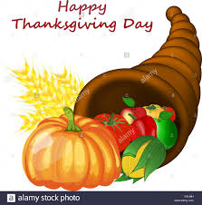 thanksgiving day images thanksgiving day greeting card design consist from cornucopia