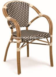 factory wholesale outdoor patio french rattan bamboo look chair