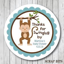 Monkey Baby Room Thanks For Swinging By Personalized Monkey Baby Shower