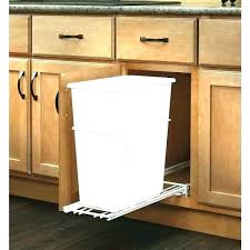 trash cans for kitchen cabinets cabinet door trash can cabinet door trash can double garbage can