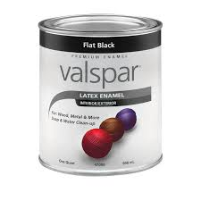 shop valspar flat black flat latex enamel interior exterior paint