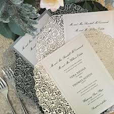 thermography wedding invitations laser cut wedding invitations roses a9 thermography printed