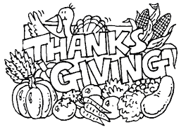 happy thanksgiving coloring pages many interesting cliparts
