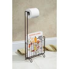 interdesign classico toilet paper roll holder with magazine rack