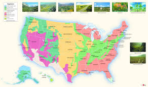 Midwest United States Map by Usa Vegetation Wall Map Maps Com