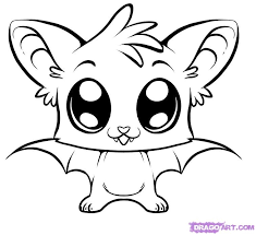 cute coloring pages draw cute bat step 6 recipes