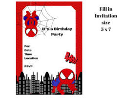 spiderman birthday invitations orionjurinform com
