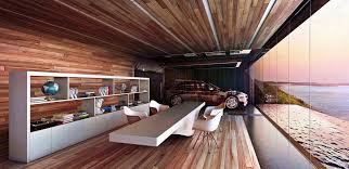 this home u0027s garage is in the living room and bedroom shows off cars