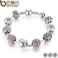 beads charm bracelet images Buy bamoer antique silver charm bracelet bangle jpg